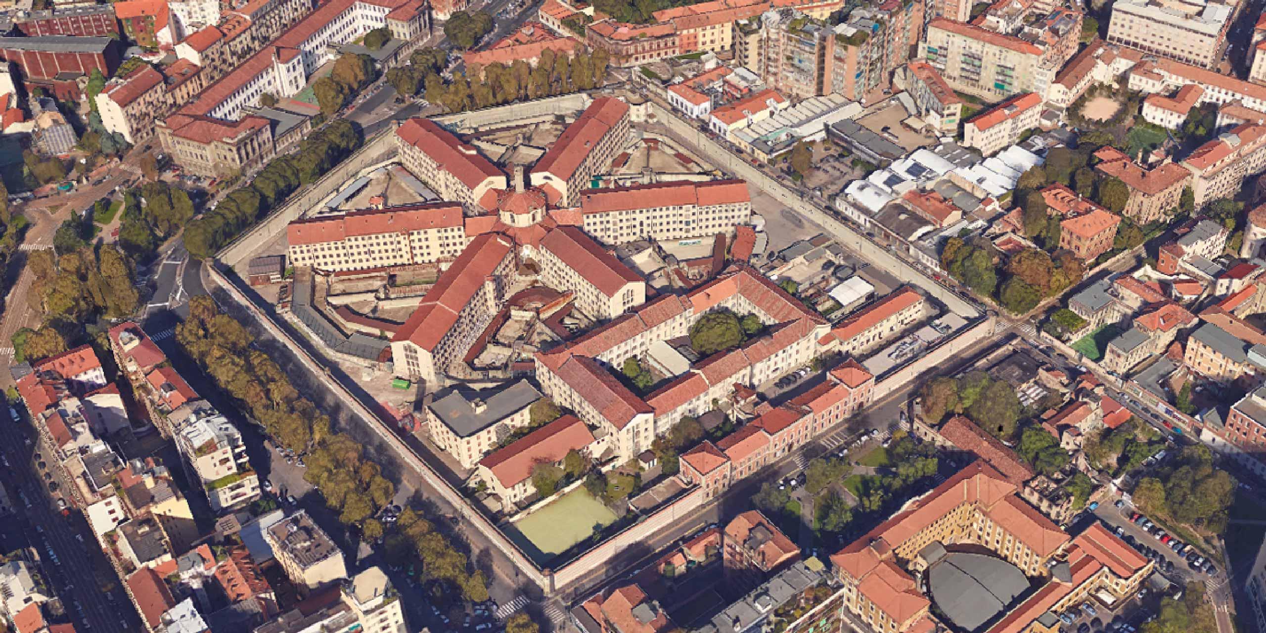 carcere di San Vittore dall'alto
