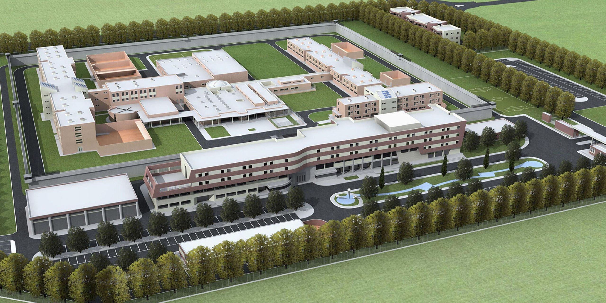 Istituto penitenziario Forlì dall'alto