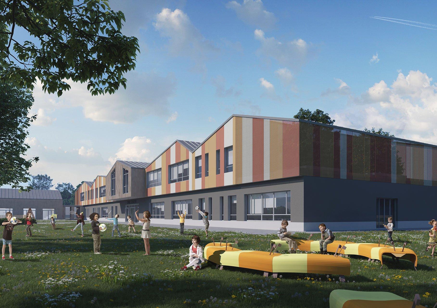scuola elementare Spino d'Adda esterni